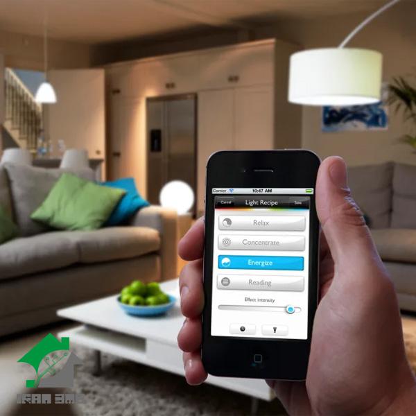 کنترل روشنایی از طریق کلید هوشمند